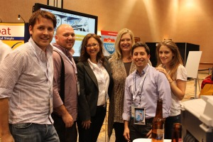 PR Newswire's social media team at BlogWorld