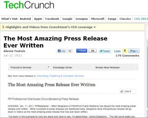 PR Newswire press release techcrunch
