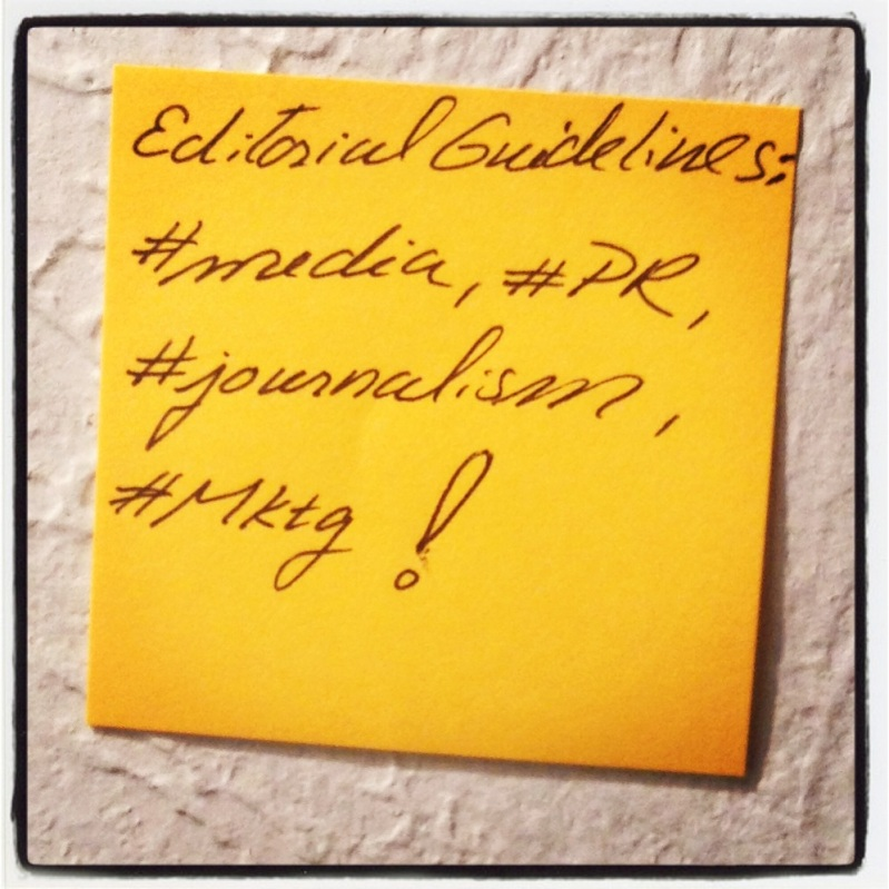 editorial guidelines sticky note