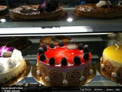 I have yet to walk Ambrosia, a patisserie near my home, and not snap a picture of the extravagant pastries they have on display just inside the front door -- and I promptly upload the pics to Facebook, prompting oohs and aahs amongst my friends (and now the readers of this blog.)