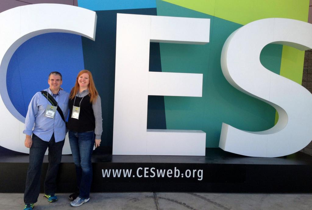 PR Newswire staffers Malcolm Atherton & Natalie Bering are on site at CES 2013.