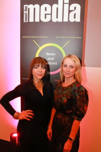 "Trish Halpin and Justine Southall of Marie Claire magazine, at PR Newswire's recent ""Meet the Media"" event in London."