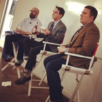 Andrew Sullivan (The Dish), Derek Thompson (The Atlantic) and Ben Smith (Buzzfeed)