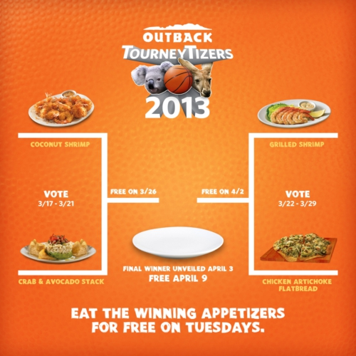 OUTBACK STEAKHOUSE TOURNEYTIZERS