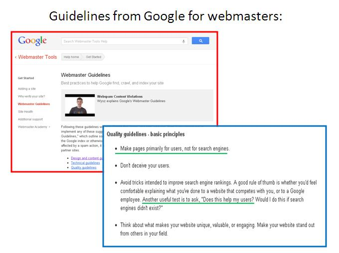 13 google guidelines