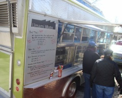 Food truck fans can grab lunch from CLE food trucks like Umami Moto, an Asian Fusion truck voted best in Cleveland