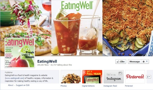 More than 200,000 people have liked Eating Well's Facebook page, and it's a lively and active social presence that attracts new audience continually.