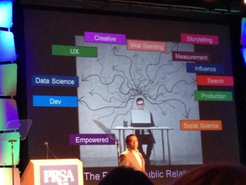 Brian Solis maps the future of PR. Image via Vanessa Bravo (@vanessabravoCR)