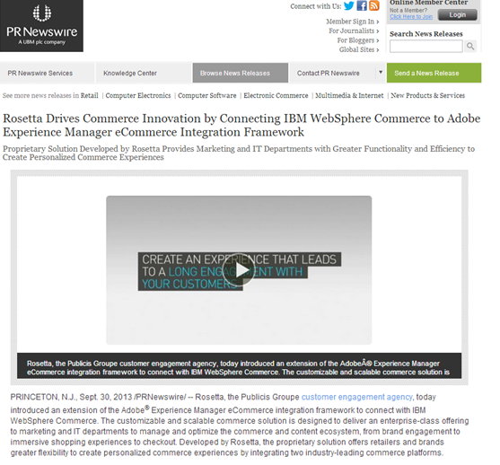 an example of a release featuring embedded video cited by rosettas shade vaughn