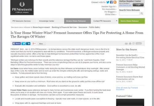Freemont Insurance offers timely advice on preventing ice dams and frozen pipes, two winter scourges.