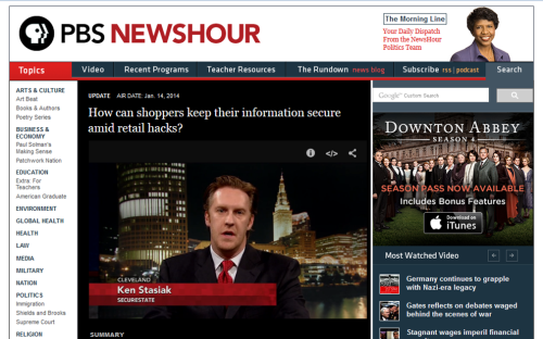 An email pitch Hardman sent via Agility lead to this interview on PBS NewsHour featuring SecureState's CEO.