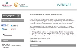 Join us on Feb. 26 for a free webinar on press release tactics that will drive results.