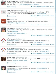 A snapshot PR Newswire's press releases shared on Twitter within 3 minutes
