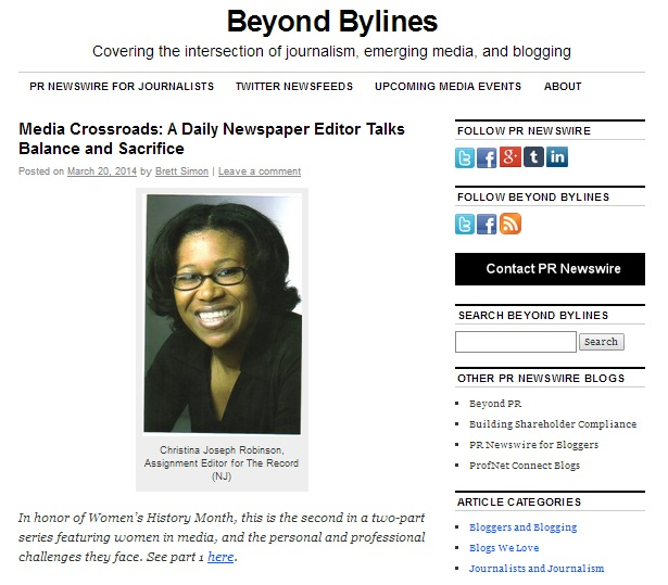 Beyond Bylines - our new media blog.