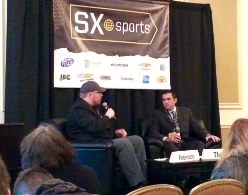 Charles Robinson of Yahoo! Sports and Pete Thamel of Sports Illustrated swapped  war stories at SXSW this year.