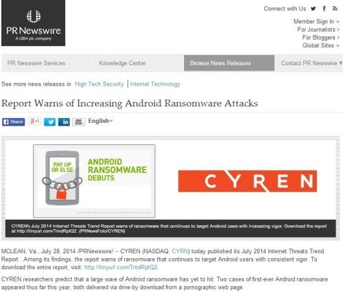 Click to view the entire advisory on PRNewswire.com
