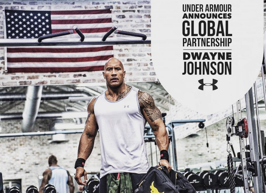 Under armour and dwayne johnson the rock Partnership