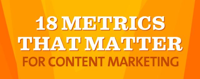 18 Content Metrics That Matter