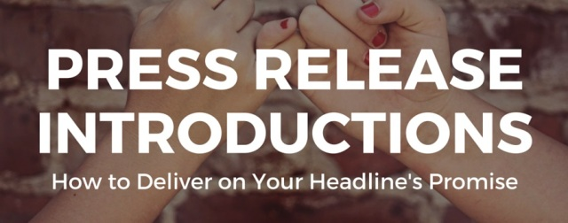 How to Write a Press Release Introduction
