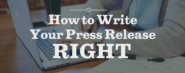 How to Write Press Releases