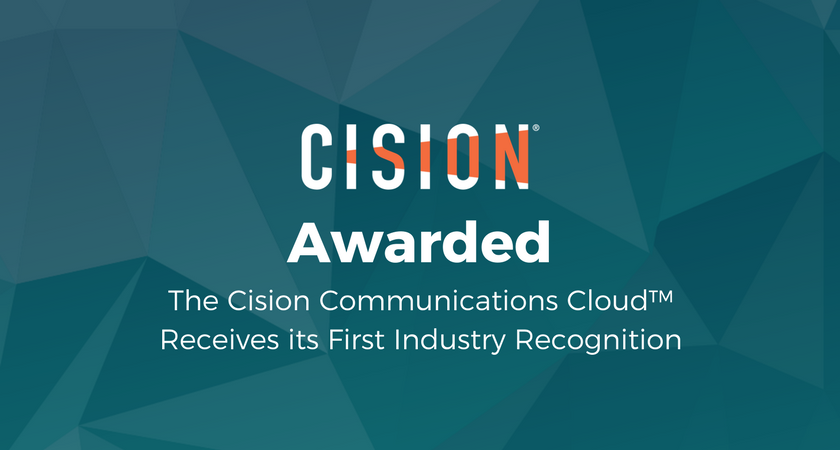 The Cision Communications Cloud™ Receives its First Industry Recognition